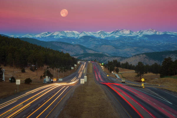 Photograph - Moon Over The Rockies by Darren White