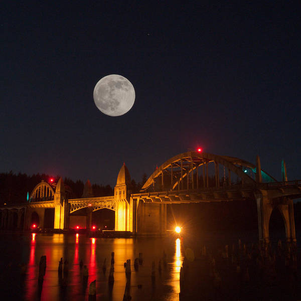 Photograph - Moon Over The Siuslaw by HW Kateley