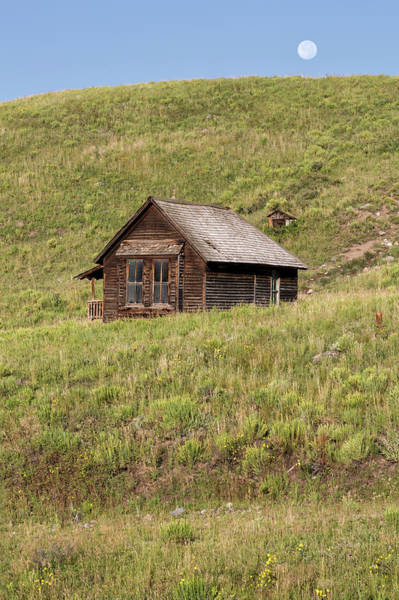 Photograph - Moon Over Tiny House by Denise Bush