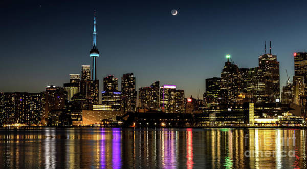 Moon Over Toronto Art Print
