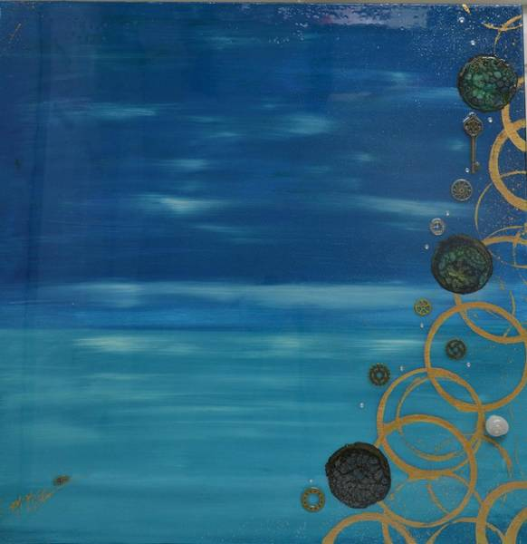 Painting - Moon Over Water by MiMi Stirn