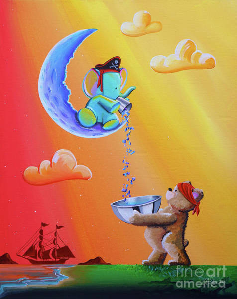 Wall Art - Painting - Moon Pirates by Cindy Thornton
