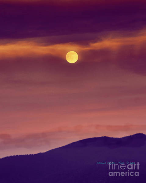 Photograph - Moon Rise by Charles Muhle