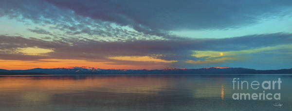Wall Art - Photograph - Moon Rise Lake Tahoe by Vance Fox
