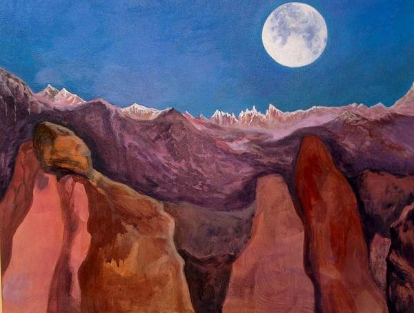 Desolation Painting - Moon Rise On Vega II by Cypriano