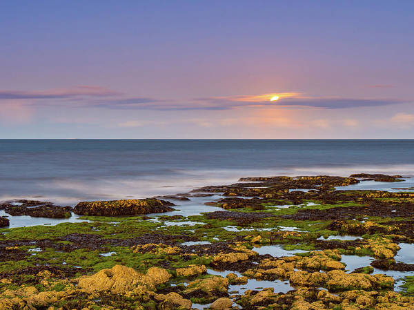 Wall Art - Photograph - Moon Rise Over The North Sea by Mike Walker