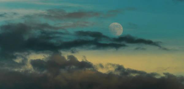 Moon Rise Sun Set Art Print by Steven Poulton