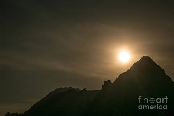 Art Print featuring the photograph Moon Rising by John Wadleigh