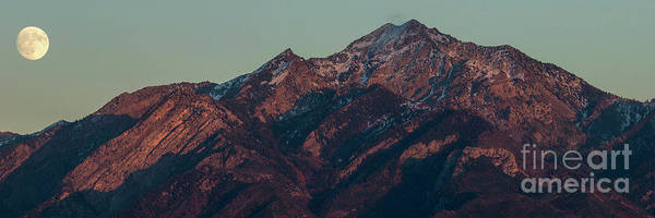 Photograph - Moon Rising Near Twin Peaks by Spencer Baugh
