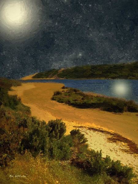 Painting - Moon River by RC DeWinter