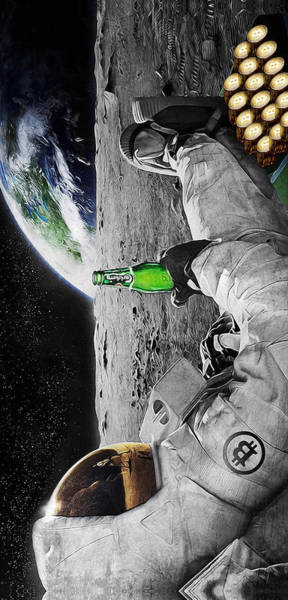 Moon Digital Art - Moon Rockin by Canvas Cultures