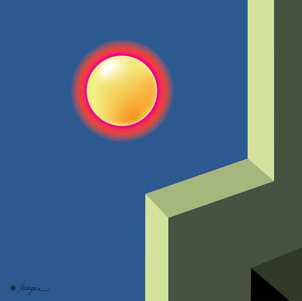 Vector Illustration Painting - Moon Roof by Gary Grayson