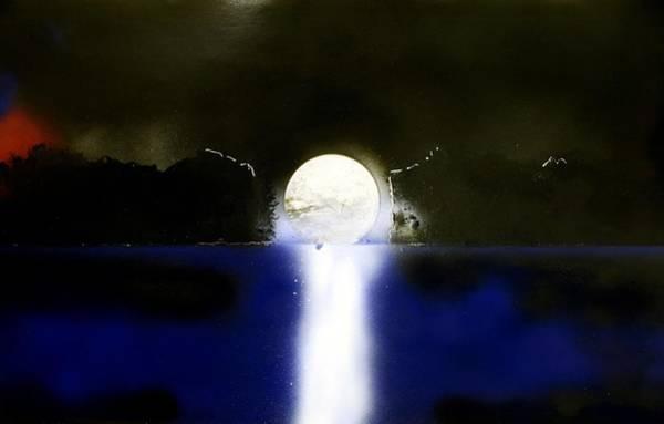 Wall Art - Painting - Moon Temple by Nandor Molnar