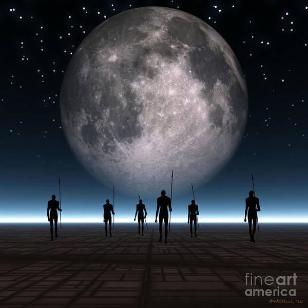 Digital Art - Moon Walk by Walter Neal