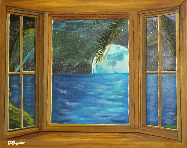 Star Formation Painting - Moon Window by David Bigelow