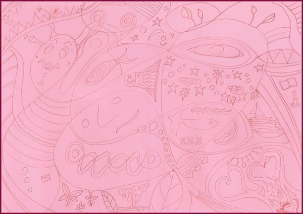 Drawing - Moonfish 1 Drawing by Julia Woodman