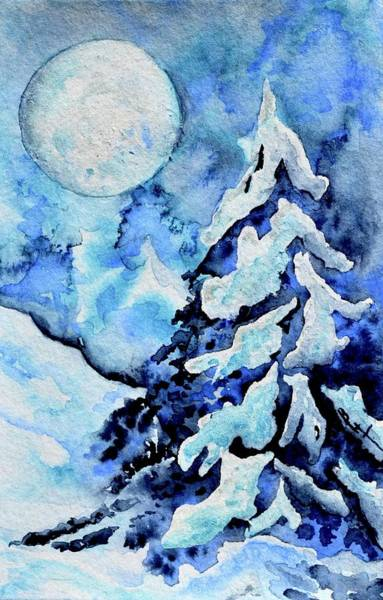 Painting - Moonglow Holiday Tree by Beverley Harper Tinsley