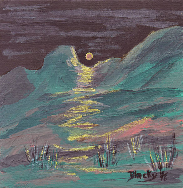 Wall Art - Painting - Moonglow On The High Desert by Donna Blackhall