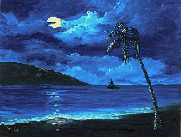Painting - Moonligh Sail by Darice Machel McGuire
