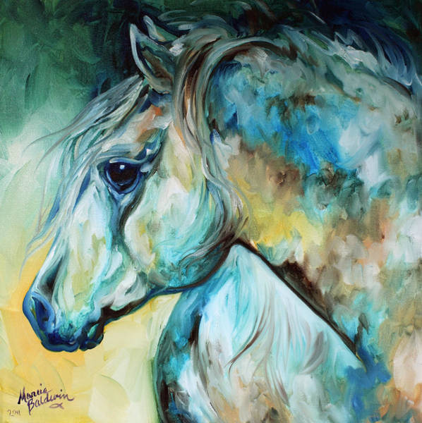 Wall Art - Painting - Moonlight Aura Equine by Marcia Baldwin