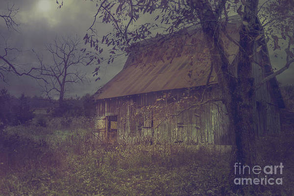 Photograph - Moonlight Barn by Tim Wemple