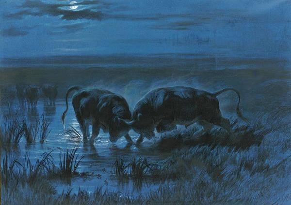 Moonlight Battle Art Print