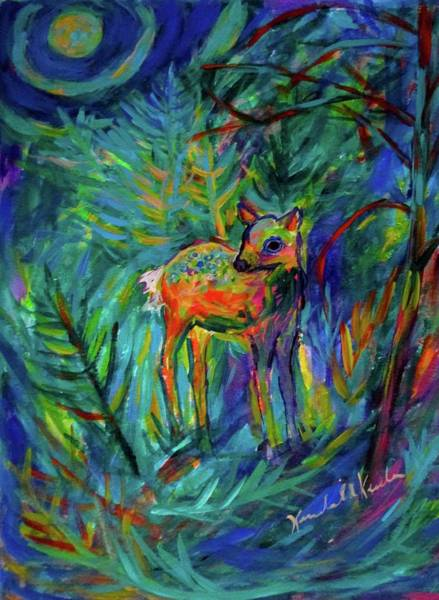 Painting - Moonlight Fawn by Kendall Kessler