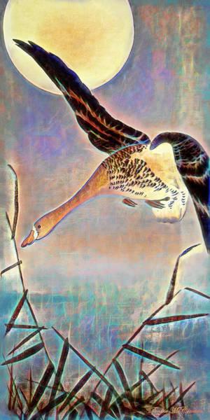 Digital Art - Moonlight Flight by Pennie McCracken