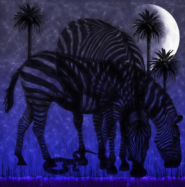 Digital Art - Moonlight Grazing by Ericamaxine Price