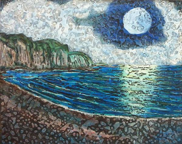 Painting - Moonlight In Pourvill by Amelie Simmons