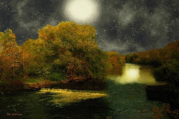 Painting - Moonlight In The Berkshires by RC DeWinter
