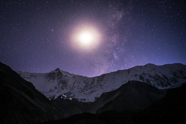 Photograph - Moonlight In The Himalayas by Laura Szanto