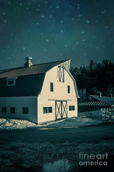 Photograph - Moonlight In Vermont by Edward Fielding