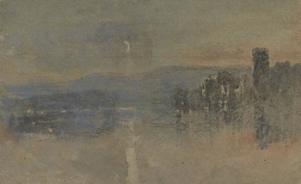 Painting - Moonlight Landscape by David Cox
