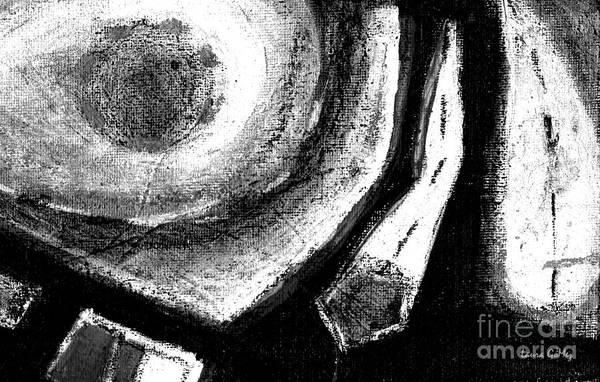 Blanco Y Negro Wall Art - Painting - Luz De Luna / Moonlight -horizontal Format by Laura Gomez