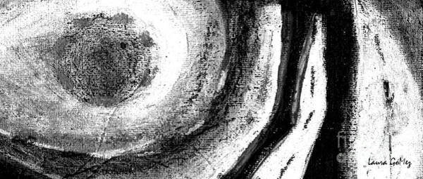 Blanco Y Negro Wall Art - Painting - Moonlight - Luz De Luna- Long Horizontal Strip Format by Laura Gomez