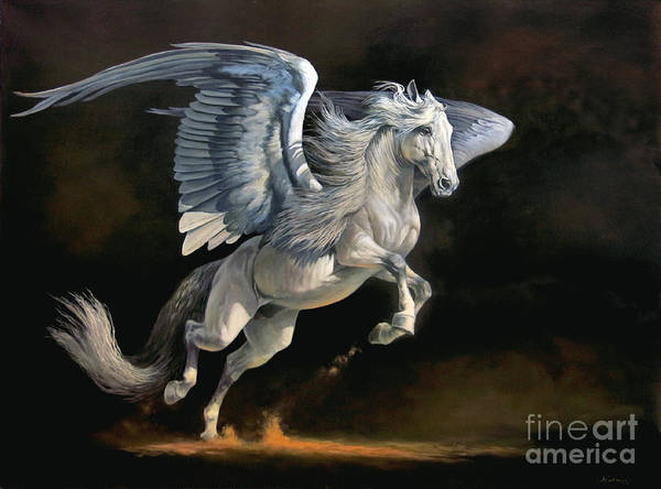 Fantasy Horse Wall Art - Painting - Moonlight Magic by Jeanne Newton Schoborg