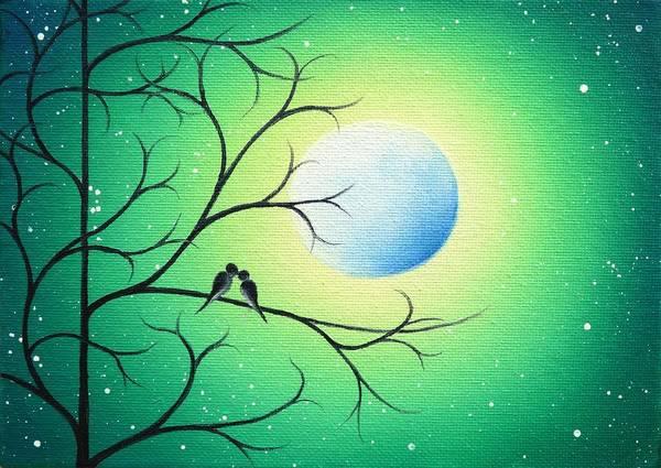 Full Moon Painting - Moonlight Meetings by Rachel Bingaman