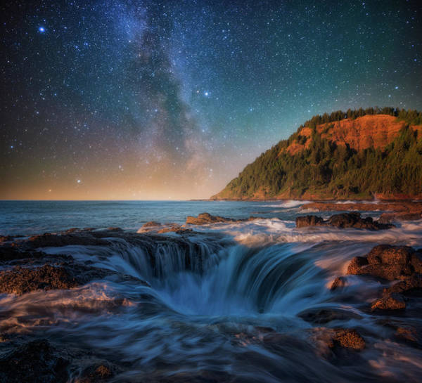 Oregon Coast Photograph - Moonlight Night At The Well by Darren White