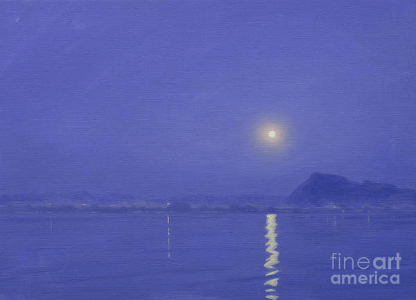 Darkness Painting - Moonlight Over Udaipur by Derek Hare
