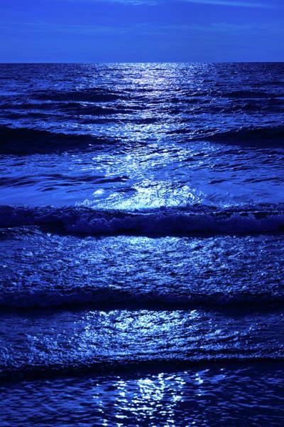 Wall Art - Photograph - Moonlight Over Water by Steve Gadomski
