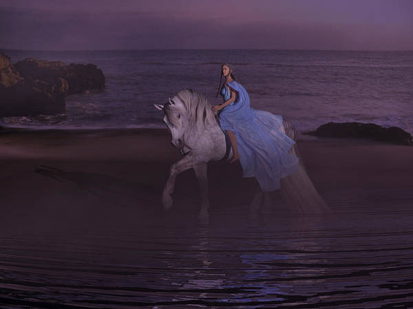 Dapple Digital Art - Moonlight Paradise by Betsy Knapp