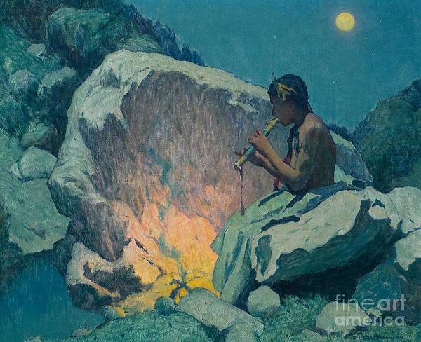 Painting - Moonlight Pueblo De Taos by Celestial Images