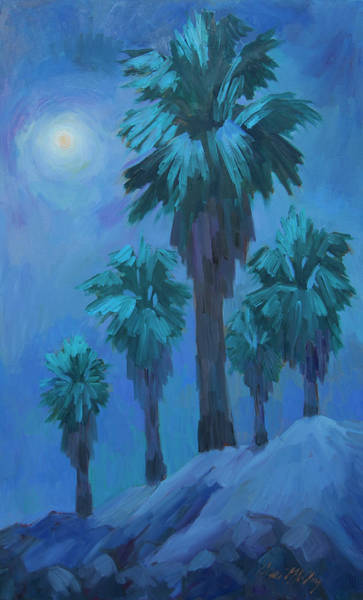 Full Moon Painting - Moonlight Reflections by Diane McClary