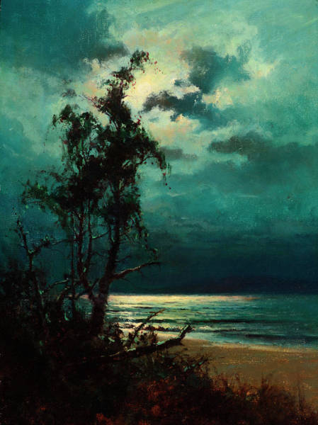 Wall Art - Painting - Moonlight Reflections by Sydney Mortimer Laurence