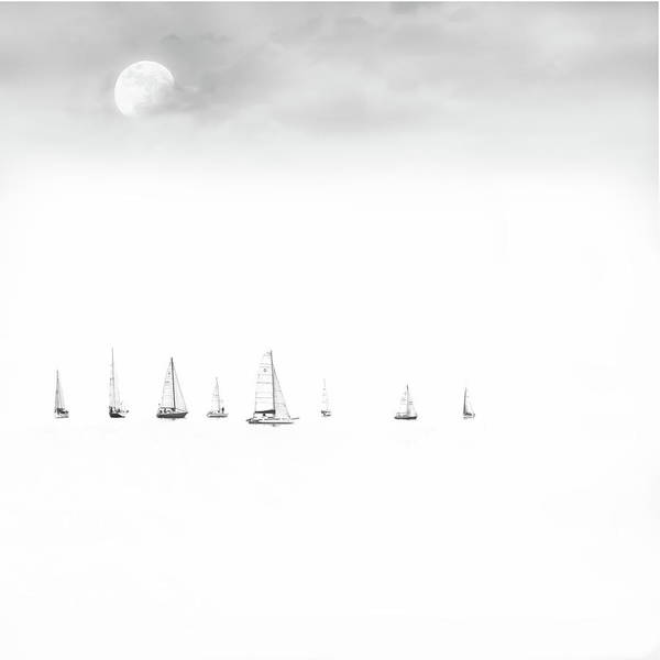 Photograph - Moonlight Sail by Andrea Kollo