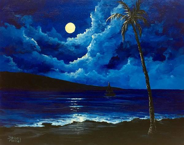 Painting - Moonlight Sail Demo by Darice Machel McGuire