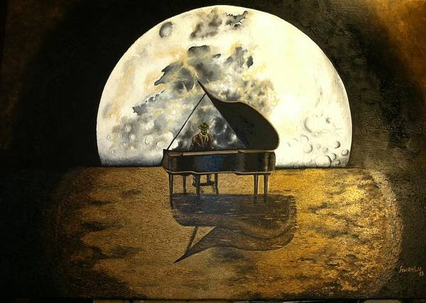 Wall Art - Painting - Moonlight Serenade by Anaalu