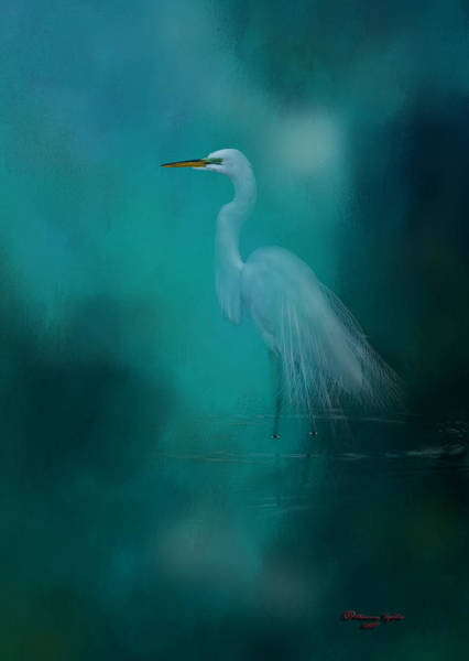 Egret Photograph - Moonlight Serenade by Marvin Spates