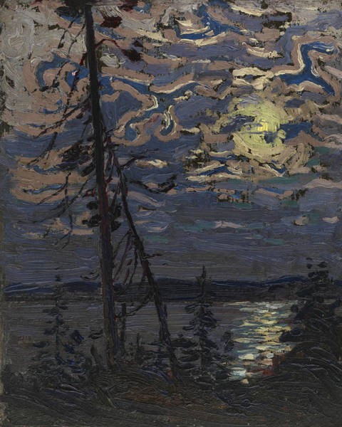 Wall Art - Painting - Moonlight by Tom Thomson